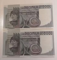 10000 Lire 1976 Baffi Stevani Serie 2 Banconote Consecutive - 10000 Lire