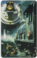 S. Africa - MTN - Locomotive Steam Trains, Steam Train #3, SC8, 2000, R15, 100.000ex, Used - South Africa