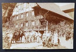 Oberbütschel (Rüeggisberg) Bauernhaus Familie Mit Pferden Und Vieh/ Alte Fotokarte - BE Berne