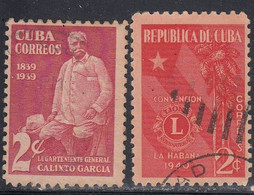 Cuba, Scott #359, 362, Used, General Calixto Garcia, Rotary Club, Issued 1939-40 - Used Stamps