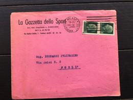 MILANO BUSTA INTESTATA LA GAZZETTA DELLO SPORT 1942 - Milano