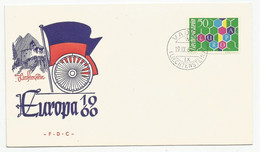Liechtenstein Mi.398 Used On Cover With First Day Cancel 1960 FDC Europa - FDC