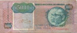 Angola : 5000 Kwanzas 1991 (mauvais état) - Angola