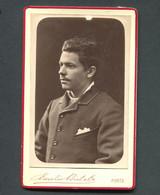Fotografia Antiga ESTUDANTE De COIMBRA João Figueirinhas. Photo Emilio Biel PORTO 1883 Portugal - Old (before 1900)