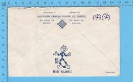 1961 - Facture D'électricité 9 Reddy Kiliwatt, Soutern Canada Power ( Avant La Nationalisation Hydro-Quebec ) - Canadá