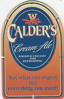 GLOSSY BEERMAT - ARROL & SONS (ALLOA, SCOTLAND) - CALDER'S CREAM ALE - (Cat No 010) - (1995) - Portavasos