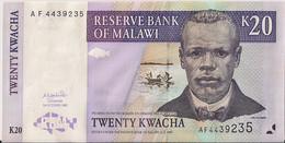 MALAWI=2001     20  KWACHA   P-44     UNC - Malawi