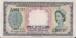 MALAY BRITISH BORNEO=1953    1  DOLLAR     P-1     Aunc - Maldiven