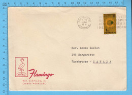 Commercial Envelope - Portugal Hotel Flamingo, Cover Lisboa 1964 Send To Canada Sherbrooke P. Quebec - Lettere