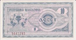 MACEDONIA=1992   10  DENAR    P-1   UNC - Macedonia