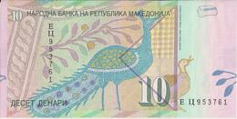 MACEDONIA=2001   10  DENARI    P-14    UNC - Macedonia
