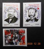 FRANCE 2020  Du  Feuillet  CROIX ROUGE  ( 2.00€ Reversées A La CROIX ROUGE)   Timbres  Neufs   Cachets   RONDS - Used Stamps