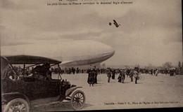 LE ZEPPELIN A LUNEVILLE.. 3/4 AVRIL 1913  ..CPA ANIMEE - Zeppeline
