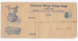 Deutsche Post Marokko Brief Der Fa.Continental Malaga Bodega Hoflieferant Des Spanischen König - Deutsche Post In Marokko