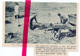 Orig. Knipsel Coupure Tijdschrift Magazine - Oostende - Vervuiling Mazout Op Het Strand - 1940 - Non Classés