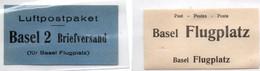 Basel Flugplatz - 2 Vignettes Avion - Bâle - 7,5 X 4 Cm - Altri Documenti