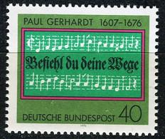 BRD - Mi 893 - ** Postfrisch (D) - 40Pf              Paul Gerhardt - Unused Stamps