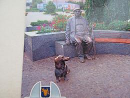 Postcard Dog Teckel Dackel Dachshund Pryluky City - Cani