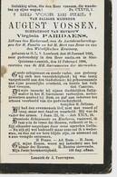 Souvenir Mortuaire VOSSEN August (1832-1906) Geboren Te ONZE-LIEVE-VROUW-LOMBEEK Overleden Te SINT-QUNTENS-LENNICK - Andachtsbilder