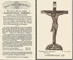 Lot De 2 Souvenirs Mortuaires Différents VOSSEN Augustinus (1863-1937) Geboren En Overleden Te ONZE-LIEVE-VROUW-LOMBEEK - Andachtsbilder