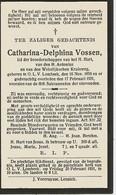Souvenir Mortuaire VOSSEN Catharina (1859-1931)  Geboren En Overleden Te ONZE-LIEVE-VROUW-LOMBEEK - Andachtsbilder