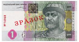 UKRAINE 1 HRYVNIA 2004 TIGIPKO SPECIMEN № 16968 Pick 116As Unc - Oekraïne