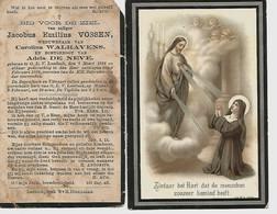 Lot De 2 Souvenirs Mortuaires Différents VOSSEN Jacobus (1836-1899) Geboren En Overleden Te ONZE-LIEVE-VROUW-LOMBEEK - Andachtsbilder
