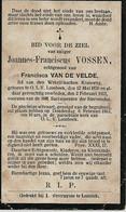 Souvenir Mortuaire VOSSEN Joannes (1830-1913) Geboren En Overleden Te ONZE-LIEVE-VROUW-LOMBEEK - Andachtsbilder