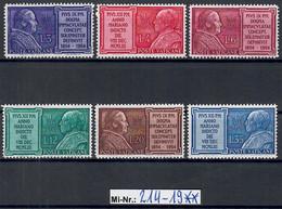 Vatikanstadt Mi-Nr.: 214-19 Marianisches Jahr 1954 Sauber Postfrischer Satz - Unused Stamps