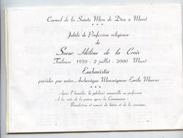 Muret, Carmel, 2000,jubilé Profession Carmélite ,remise Bâton Et Couronne ,cantiques,chants Marcus, Archevêque Toulouse - Sciences