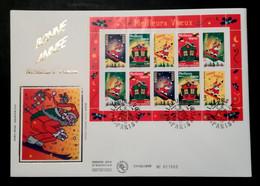 Enveloppe FDC Grand Format 1998 - BONNE ANNEE - 1990-1999