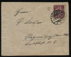 S0556 DR Infla EF Brief:gebraucht Solingen - Regensburg 1921, Bedarfserhaltung. - Brieven En Documenten