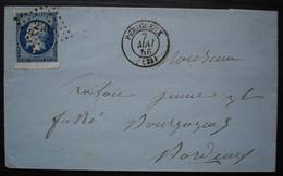 Périgueux 1856 Pc 2402 Sur N°14 Bord De Feuille, Voir Photos - 1849-1876: Periodo Classico