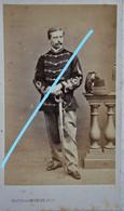 ABL CDV Officier Carabinier Carabiniers Vers 1865 Belgische Leger Armée Belge Belgian Army Photographe De Saedeler Bxl - Old (before 1900)