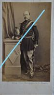 ABL CDV Officier Infanterie De Ligne Vers 1865 Belgische Leger Armée Belge Belgian Army Photographe GHEMAR Bruxelles - Foto