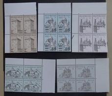 BELGIE 1988    Reeks Nr. 2288 - 2292   Blokken Van 4      Zie Foto    Postfris **  FAC 212 Bfr. / 5,00 Euro - Nuevos