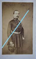 ABL CDV Officier Infanterie De Ligne Képi 1862 Belgische Leger Armée Belge Belgian Army Photographe GERUZET Bruxelles - Foto