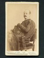 Fotografia Antiga ESTUDANTE De COIMBRA Francisco Lacerda, Natural De PONTE Da BARCA. Old CDV Photo 1890 Portugal - Oud (voor 1900)