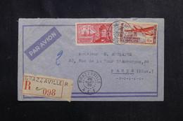 A.E.F. - Enveloppe En Recommandé De Brazzaville Pour Paris En 1939 Par Avion - L 72764 - Covers & Documents