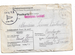 Stalag V.A.  Pour Lavoye 1941  Photo Jointe ( Cousue Sur La Carte) - Guerra Del 1939-45