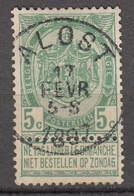 N° 56 OBLITERATION  ALOST - 1893-1907 Stemmi