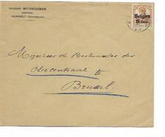 SH 0661. Oc 15 DEPÔT-RELAIS HERSSELT 1917 S/Lettre Vers Oliencentraal / BRUXELLES. TB - Duits Leger