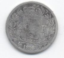 50 CENTIMES 1816 A  260898 EXEMPLAIRES  LOUIS XVIII - G. 50 Centimes