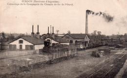 CPA  Environs D'Argentan, Surdon, Créosotage De La Coopérative Du Chemin De Fer De L'ouest, Wagons - Frankreich