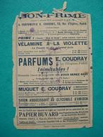 Buvard Parfumerie Coudray Rue D'Enghien Paris - Papeterie Du Marais Et De Sainte Marie - Parfums & Beauté