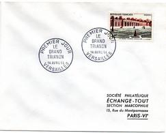 CHATEAU = 78 VERSAILLES 1956 = CACHET PREMIER JOUR 'GRAND TRIANON'+ N° Yvt 1059 - 1950-1959