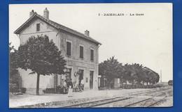 DAMBLAIN   La Gare   Animées   écrite En 1916 - Otros Municipios