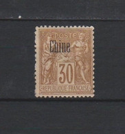 N° 9 TIMBRE CHINE NEUF* De 1894       Cote : 12 € - Unclassified