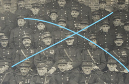 Photo X3 MOL BRANDWEER Vrijwilliger Pompier Pompiers Vers 1920 - Places