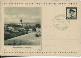 Böhmen Und Mähren Ganzsache Vorläufer CSR P69 Bild 43 Sonderstempel #9 Prerov 10.9.39 - Storia Postale